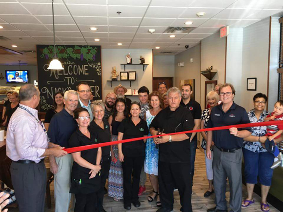 Ribbon cutting for Nick's Diner II